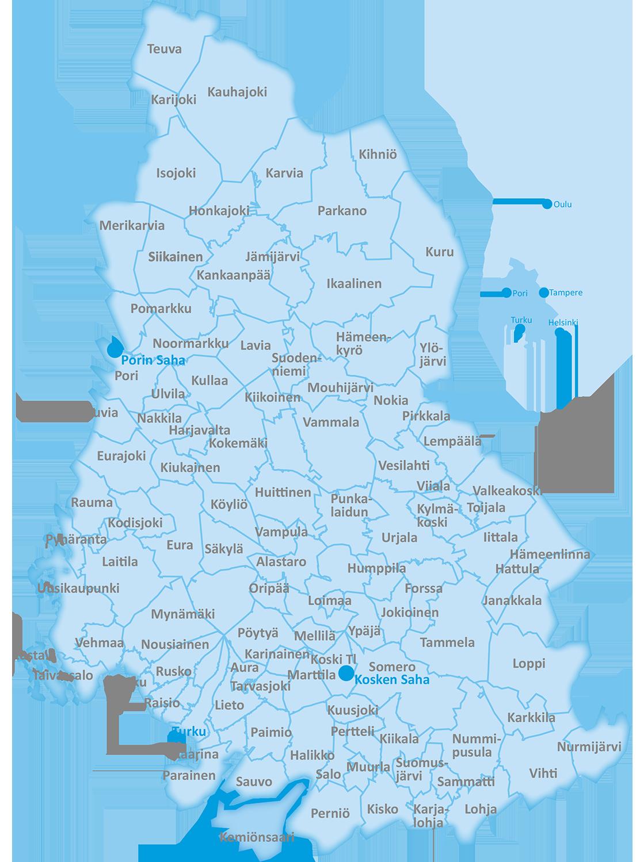 Westas hankkii puuta läntisestä Suomesta.